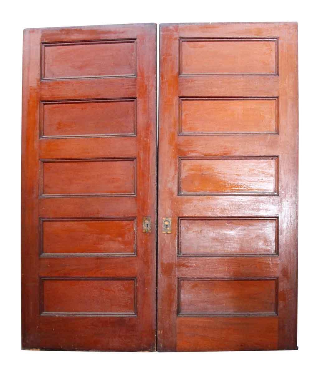 Pair of wide wooden pocket doors olde good things for 12 wide door