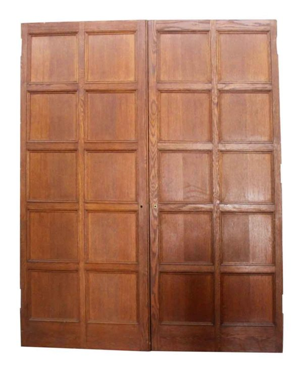 Pair of Square Panel Wooden Doors