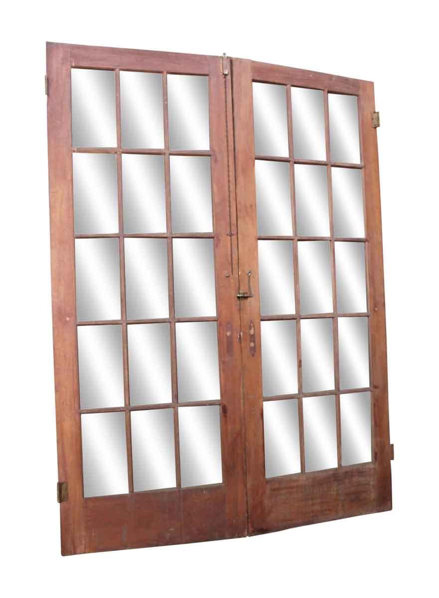 Glass panel wooden doors olde good things Interior wood door with glass panel