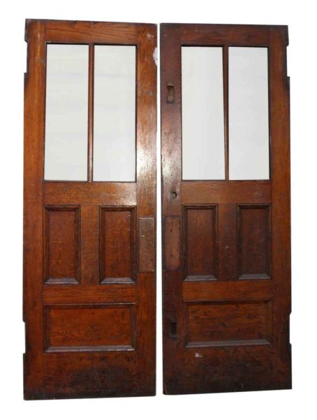 Pair of Doors with Chicken Wire Glass