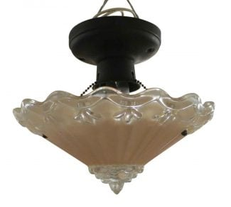 Pink Scallop Flush Mount Light
