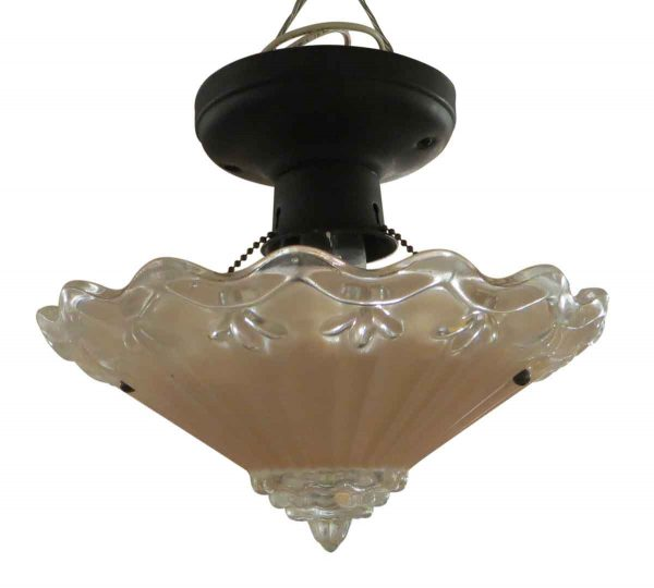 Pink Scallop Flush Mount