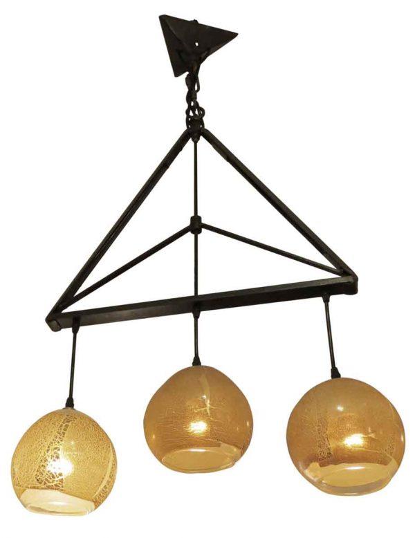 Iron Triangle Three Light Pendant
