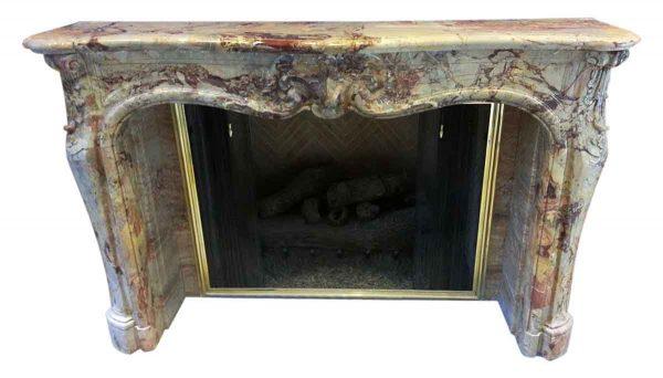 19th Century Louis Xv Sarrancolin Marble Mantel