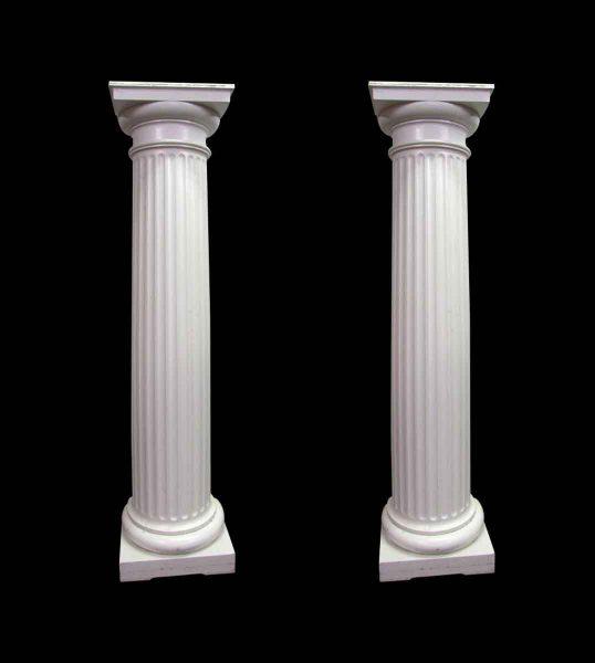 Large Fluted 3/4 Wood Columns