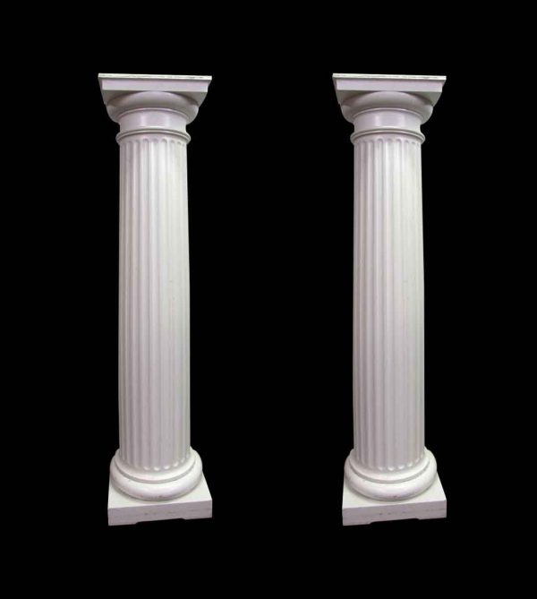 Large Fluted 3/4 Wood Columns