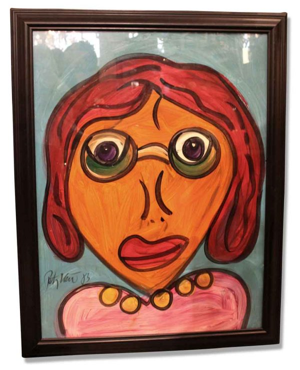 Framed Peter Keil Painting Titled 'My Friend Andy Warhol'