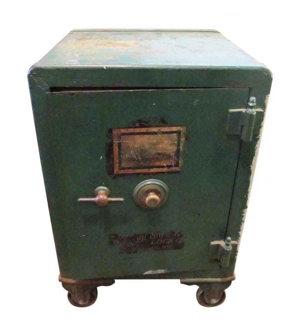 Vintage Green Painted Safe