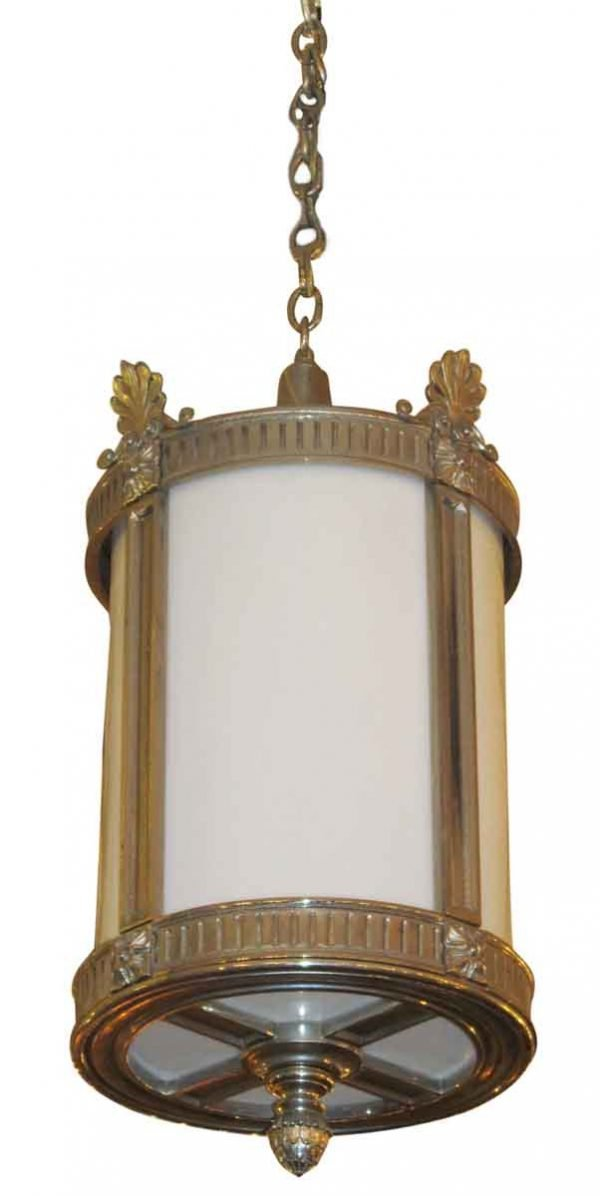 Nickel Plated Ornate Entryway Lantern