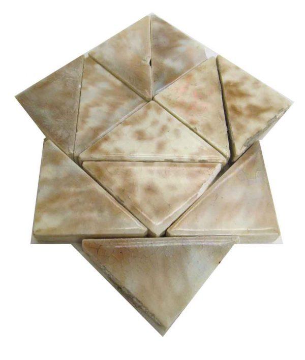 Brown & Cream Mix Triangle Set