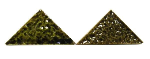 Green Triangle Pebbled Tiles
