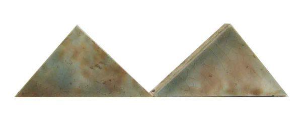 Blue & Tan Triangle Tiles