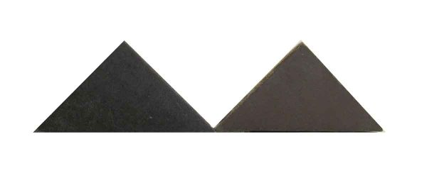 Brown & Black Matted Triangle Tiles