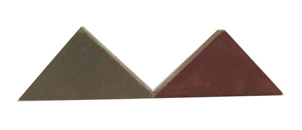 Red & Tan Matted Triangle Tiles
