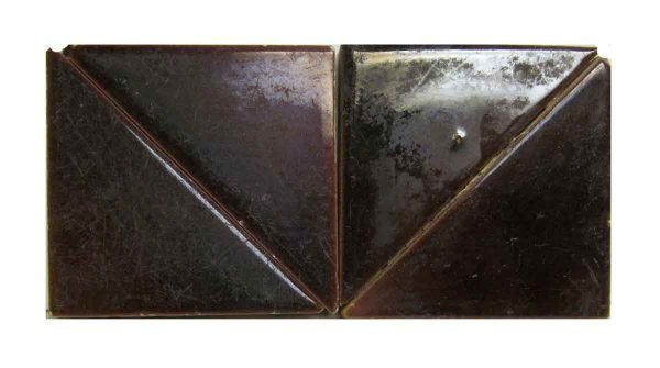 Brown Triangle Tiles Set