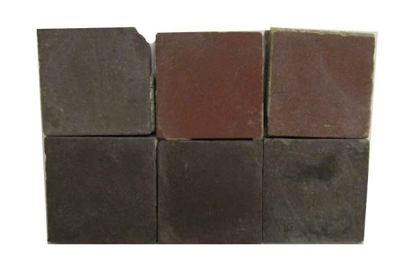 Red & Dark Brown Matted Square Tiles