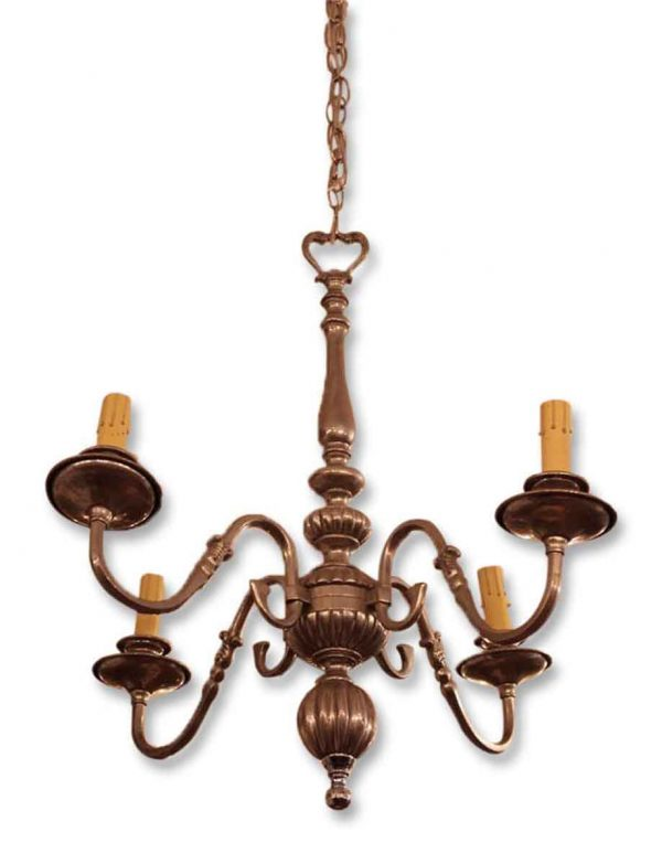 Four Arm Nickel Chandelier