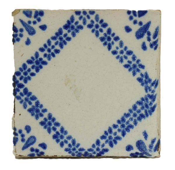 Single Blue & White Decorative Tile