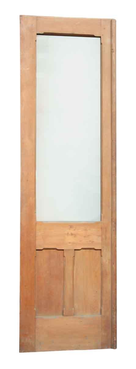 Single Wood Door with Decorative Panels
