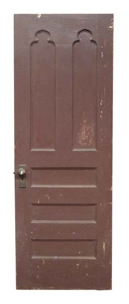 Single Wooden Door with Gothic Details