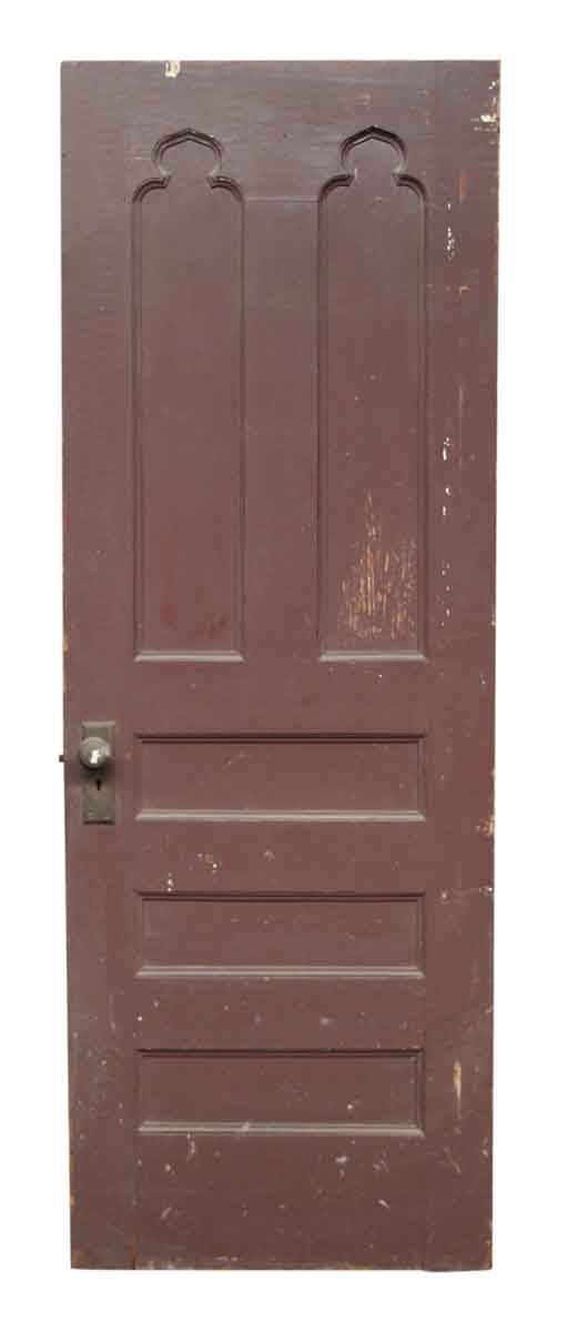 Single Wooden Door with Gothic Details