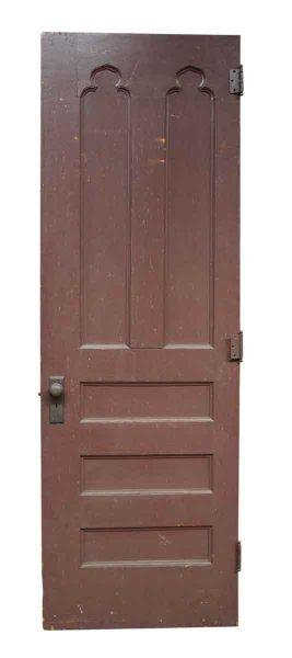 Single Wooden Door Gothic Details