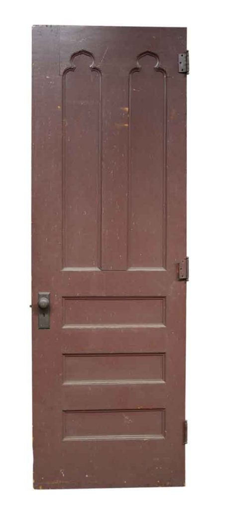Antique interior doors olde good things single wood door with gothic details planetlyrics Image collections