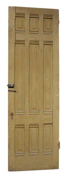 Single Wood Door with Nine Panels
