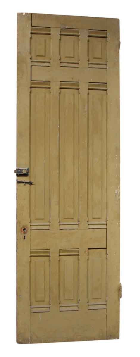 Single Wood Door with Nine Panels