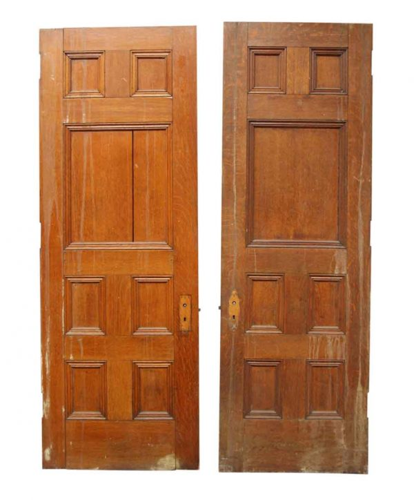 Pair of Doors with Seven Panels