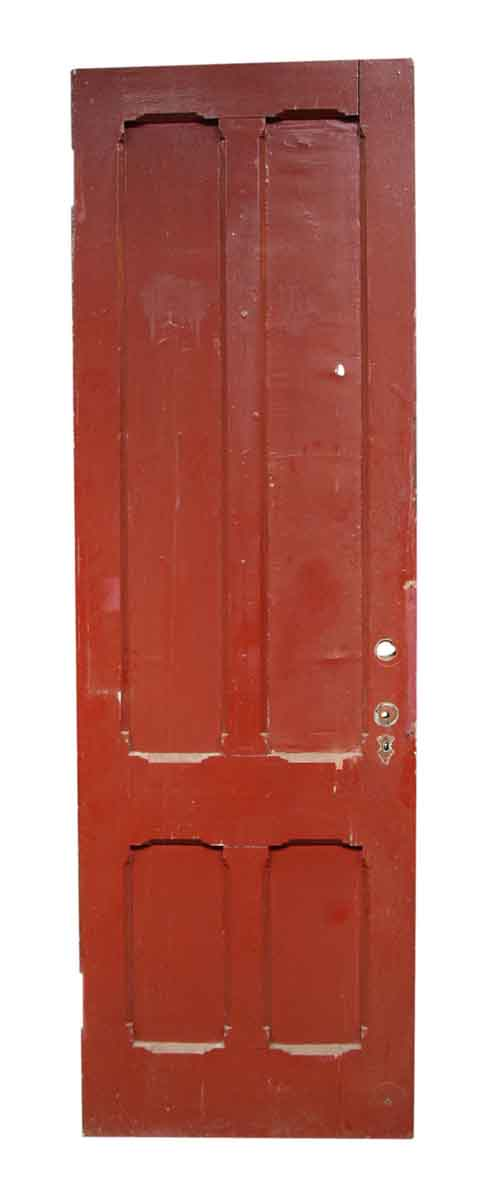 Single Red Wooden Door