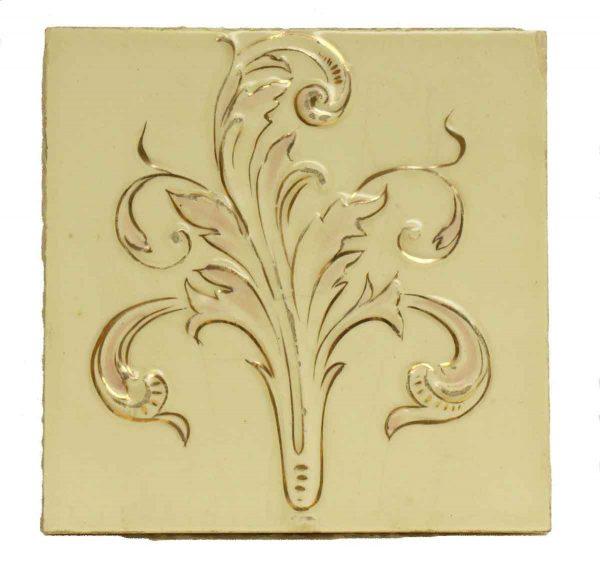Single Cream & Gold Decorative Tile