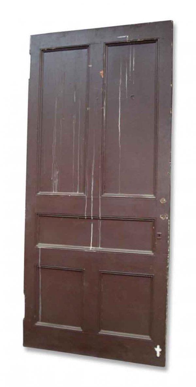 Burgundy & White Door