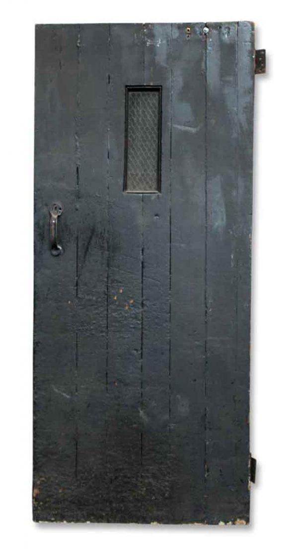 Single Black Wood Plank Door
