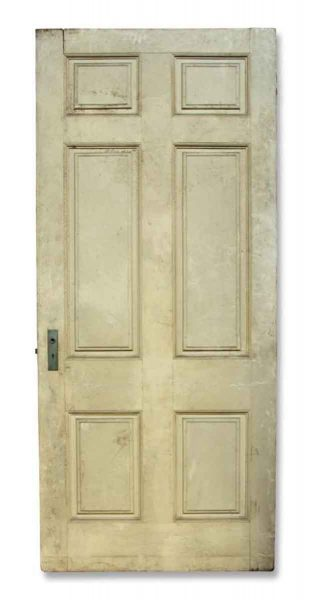 Single Cream Six Paneled Door