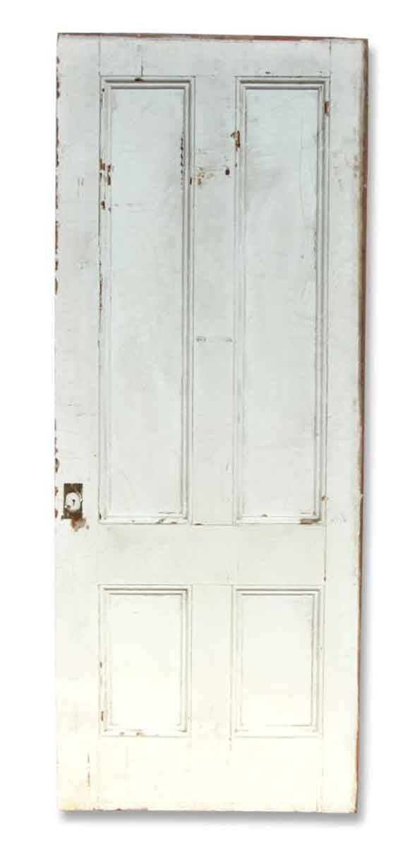 Single White Painted Door