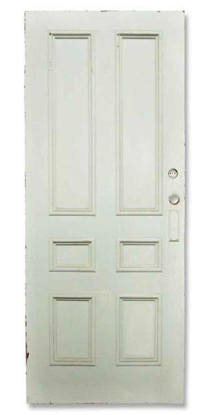 Single White Six Paneled Door
