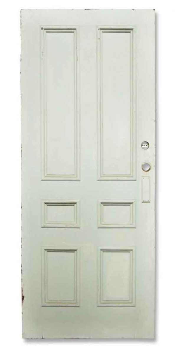 Single White Six Paneled Door