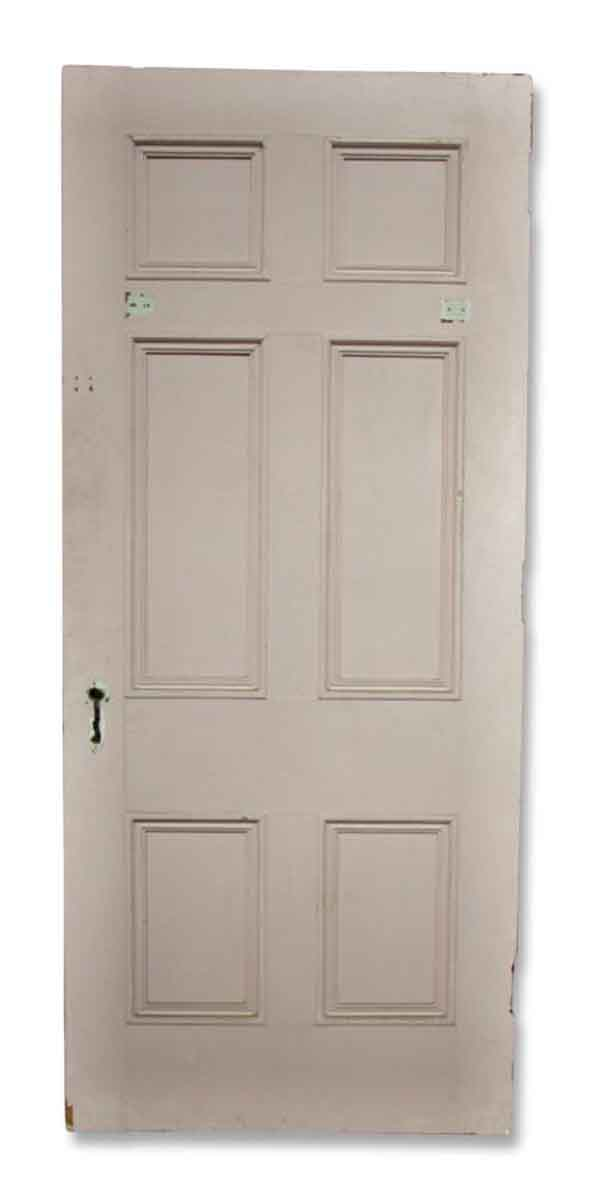 Single Pink Door with One Mirror Side