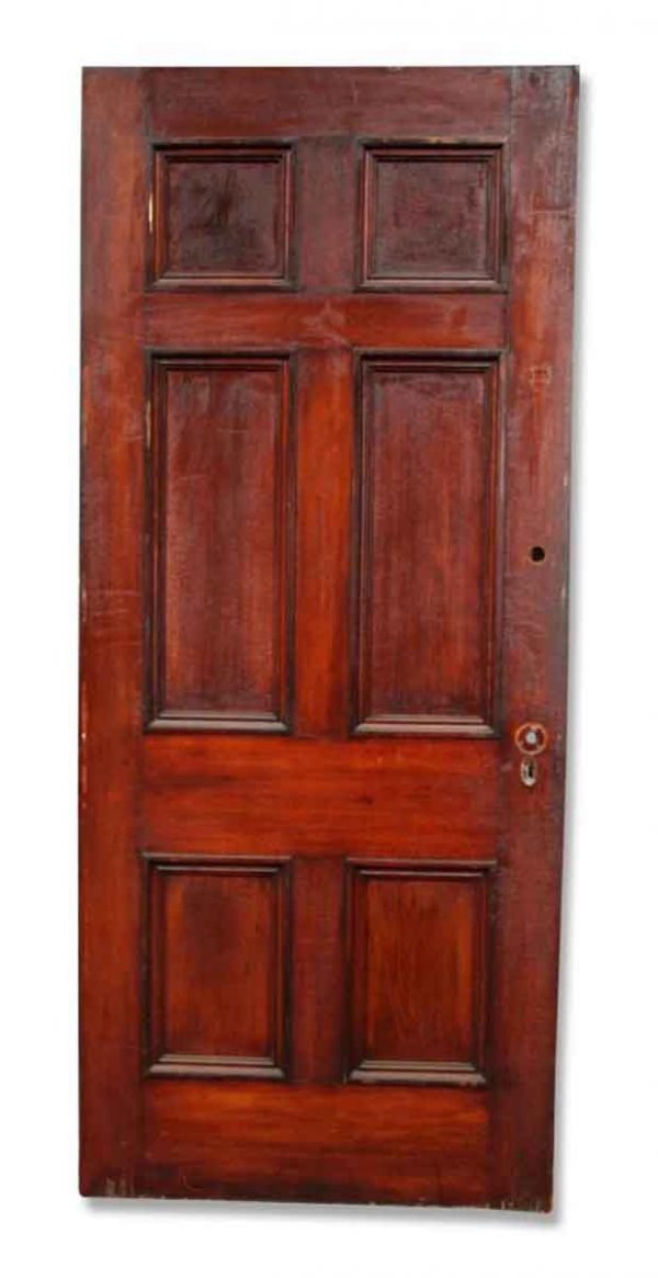 Single Six Paneled Stained Door