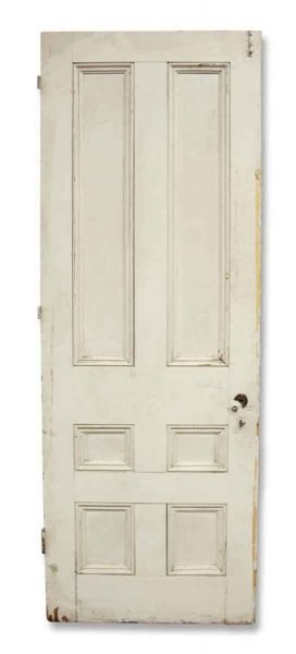 Single Six Paneled White Door