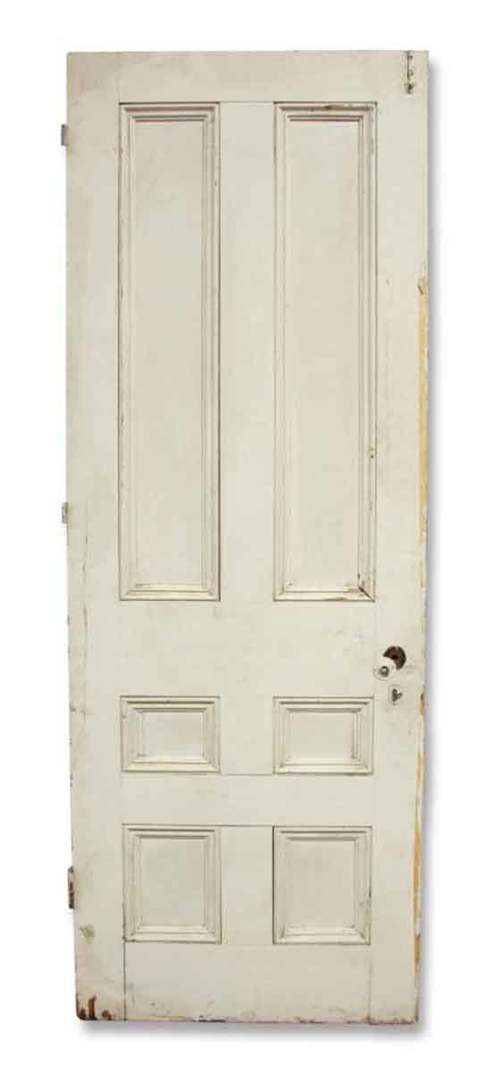 Single Six Paneled White Door