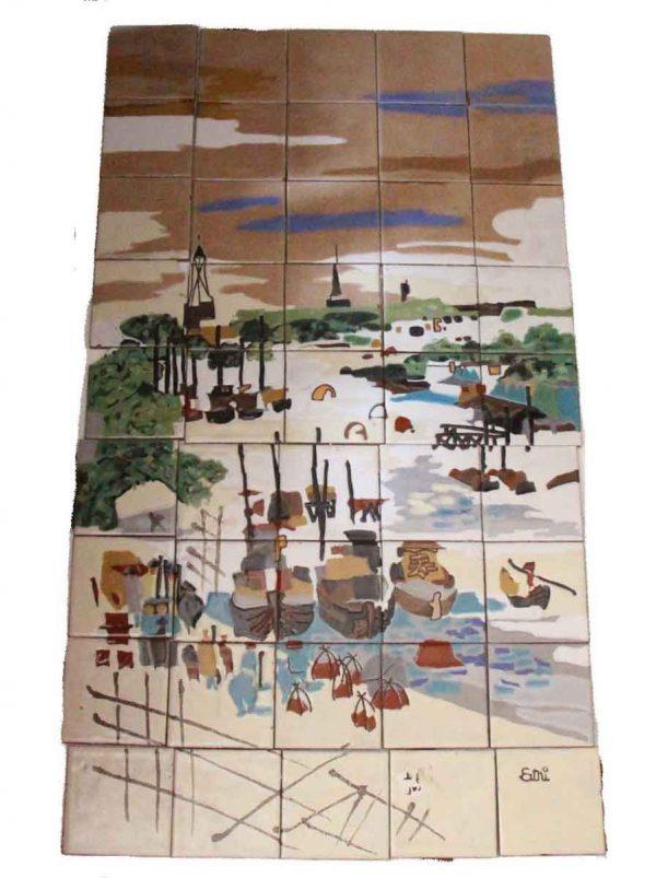 Oriental Village Mural Tile Set