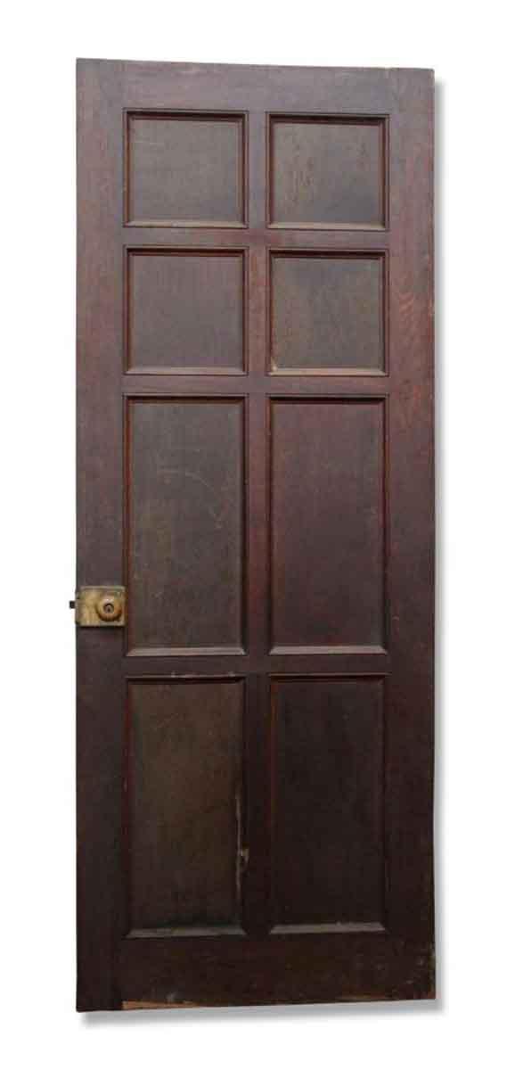 Single Eight Paneled Wood Door