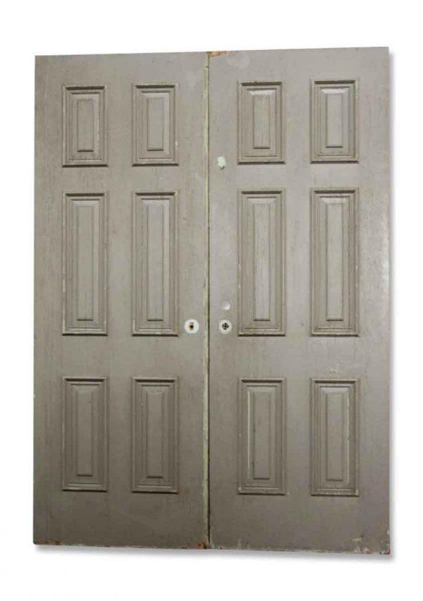 Pair of Gray Double Doors
