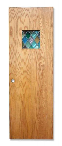 Door with One Small Stained Glass Panel