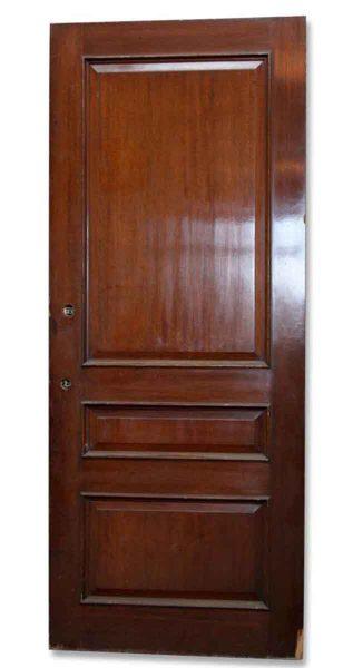 Single Three Paneled Wooden Door