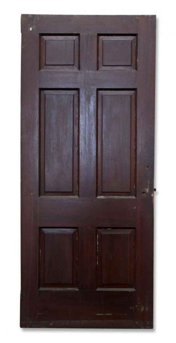 Single Mahogany Stained Door