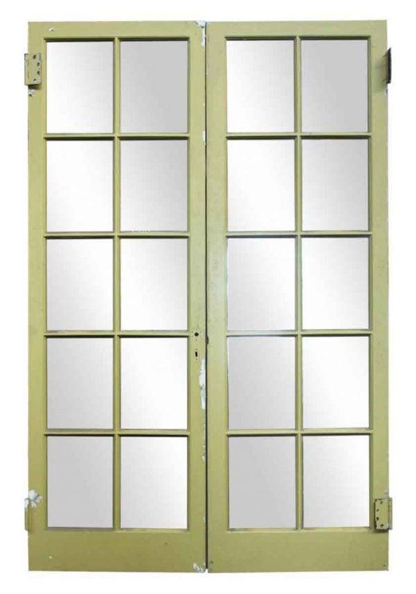 Pair of Green Double Doors