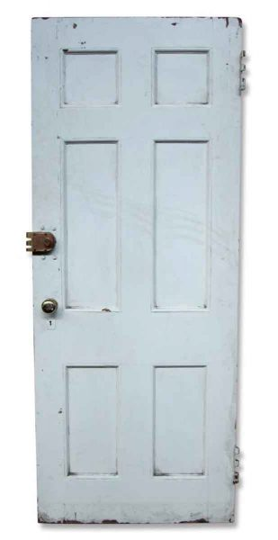 Single Six Paneled Salvaged Door